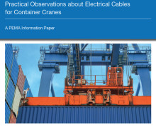 PEMA publishes information paper on electrical cables for container cranes