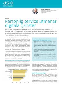 Personlig service utmanar digitala tjänster