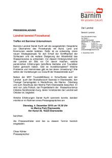 Einladung Pressetermin