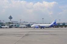 India's IndiGo arrives at Changi Airport
