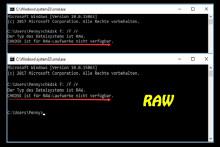 CHKDSK ist für RAW-Laufwerke nicht verfügbar
