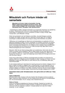 Mitsubishi och Fortum inleder ett samarbete