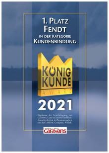 König Kunde Award 2021 - Fendt-Caravan in drei Kategorien ganz oben