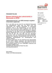 Bessere Anbindung des Leibnizviertels in Eberswalde im ÖPNV