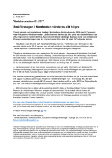 Värdebarometern Q1-2017 Norrbottens Län