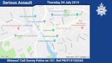 Man arrested following assault outside Guildford restaurant