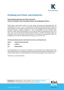 Einladung zum Presse- und Fototermin - Kunst  und Kultur zur Xmas Art-Exhibition