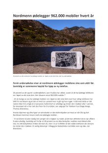 Nordmenn ødelegger 962.000 mobiler hvert år