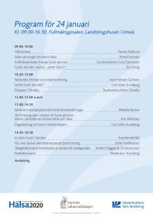 """Program för konferensen """"Alla barns rätt till rörelserikedom"""""""