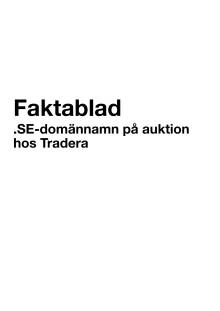 Faktablad .SE auktioner