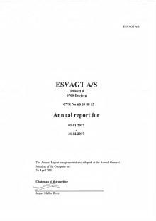 ESVAGT Annual Report 2017