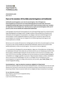 Fyra av tio svenskar vill ha både amorteringskrav och bolånetak
