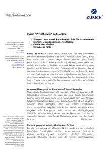 """Zurich """"PrivatSchutz"""" geht online"""