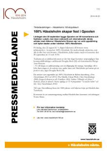 100% Hässleholm skapar fest i Qpoolen