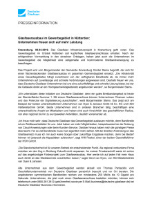 Glasfaserausbau im Gewerbegebiet in Nütterden:  Unternehmen freuen sich auf mehr Leistung