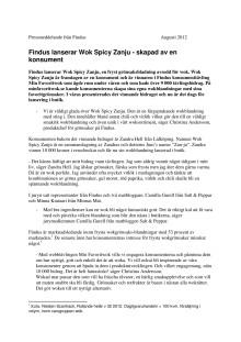 Findus lanserar Wok Spicy Zanju - skapad av en av våra konsumenter
