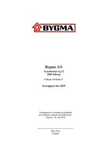 Bygma A/S, årsregnskab 2019