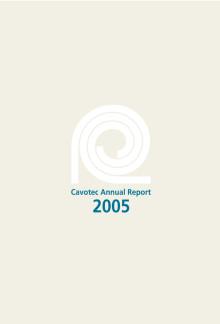 Cavotec MSL - Annual Report 2005