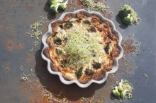 En god paj med grönkålsgroddar!
