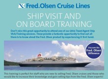 Learn all about the 'Fred. Olsen Difference' on a free onboard training day in Autumn 2016
