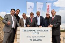 Grundsteinlegung der Theodor-Fontane-Höfe in Neu-Schönefeld: Weiterer Meilenstein für einen urbanen Stadtteil