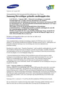 Samsung förverkligar gränslös medieupplevelse