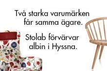 Stolab satsar vidare på svensk möbeltillverkning. Förvärvar Albin i Hyssna.