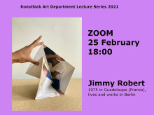 Welcome to a zoomed artist talk with Jimmy Robert