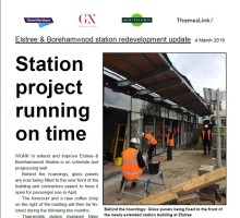 Elstree & Borehamwood Station redevelopment on schedule