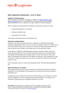 Hjärt-Lungfondens diabetesindex 2014