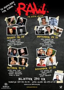 RAW comedy club - säsongsschema hösten 2009