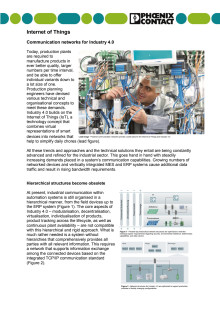 Internet of Things: Communication networks for Industry 4.0