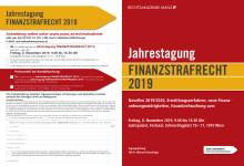 Programmfolder Jahrestagung Finanzstrafrecht 2019