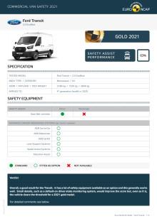 Euro NCAP Commercial Van Testing - Ford Transit datasheet
