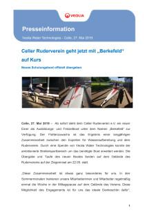 """Celler Ruderverein geht jetzt mit """"Berkefeld"""" auf Kurs"""