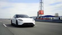Die Sony Group und Vodafone Deutschland starten 5G-Fahrtest mit dem Elektroauto-Prototyp VISION-S