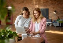 Flere tilkoblingsmuligheter til arbeidsbordet