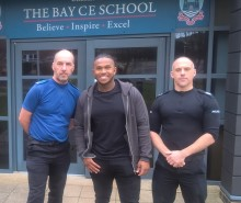 Pride of Britain award winner speaks to teenagers on the Isle of Wight as part of national week of action against knife crime.
