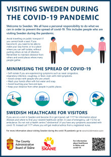 Informationsblad till turister om Covid-19