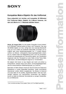 Kompaktes Makro-Objektiv für das Vollformat