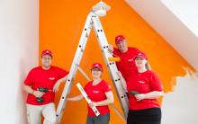"""Santander Mitarbeiter renovierten  Jugendtreff  in der """"Arche"""""""