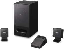 Sony debuts first PC speaker with dock for iPod / iPhone: SRS-GD50iP 2.1ch speaker system delivers rich, powerful sound