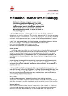 Mitsubishi startar livsstilsblogg