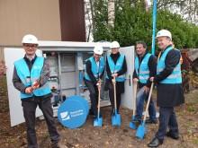 Spatenstich zum Glasfaser-Netzausbau in den Gewerbegebieten in Hövelhof - Firmen können schon bald das Glasfasernetz nutzen