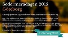 Idogen på Sedermeradagen i Göteborg