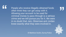 Money launderers sentenced for handling illicit investment fraud funds