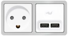 Nyt, dobbelt USB-udtag til LK FUGA og LK OPUS 66