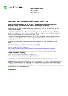 Umeå-film tog finalplats i reklamfilmens Grand Prix