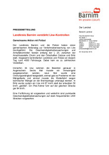 Landkreis Barnim verstärkt Lkw-Kontrollen