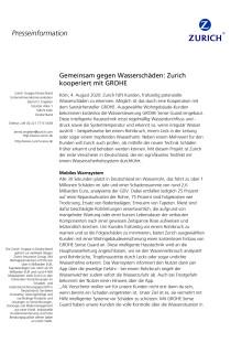 Gemeinsam gegen Wasserschäden: Zurich kooperiert mit GROHE